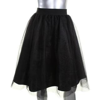 Aqua Womens Tulle Stretch A-Line Skirt