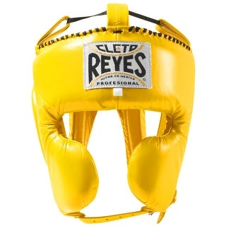 Cleto Reyes Classic Training Cheek Protection Boxing Headgear - Yellow