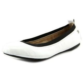 Delman Maxie Women Round Toe Synthetic White Flats