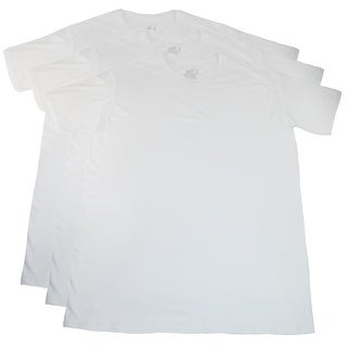 Fruit of the Loom Men's Tall Size White Cotton Crew Neck Tee Shirts (Pack of 3)