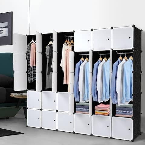 8/12/16/20/30 Cube Modular Plastic Organizer Storage Shelves Closet Cabinet
