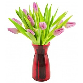 KaBloom Mother's Day Special: 10 Pink Tulips Farm-Fresh from Holland with Vase