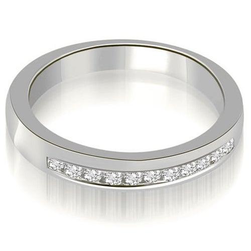 0.25 cttw. 14K White Gold Classic Channel Round Cut Diamond Wedding Band