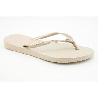 Havaianas Slim Crystal Glamour SW Sand Grey/Light Golden Sandals