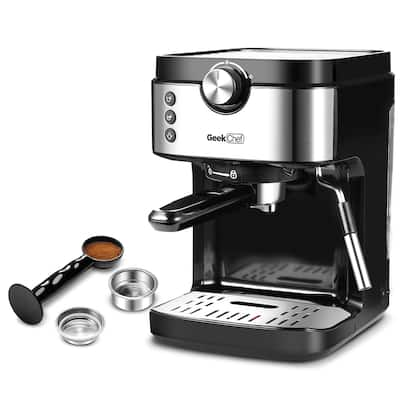 Espresso Machine With Foaming Milk Frother Wand, 1300W High-Performance No-Leaking Coffee Maker For Espresso, Cappuccino
