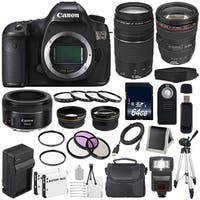 Canon EOS 5DS DSLR Camera (International Model) 0581C002 + EF 24-105mm f/4L IS USM Lens + EF 75-300 III Bundle