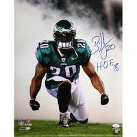 Brian Dawkins Signed 16x20 Philadelphia Eagles Smoke Photo HOF 18 JSA