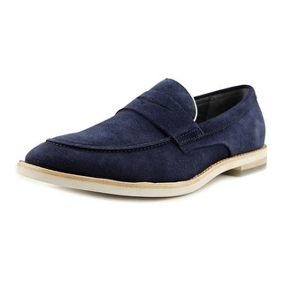 Calvin Klein Andron Men  Round Toe Suede Blue Loafer