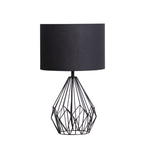 """Lauren Taylor - Metal Wire Table Lamp with Shade - 20x12"""""""