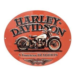 """Harley-Davidson Embossed Timeless Vintage Motorcycle Tin Sign, Orange 2010781 - 15.75"""" x 13"""""""