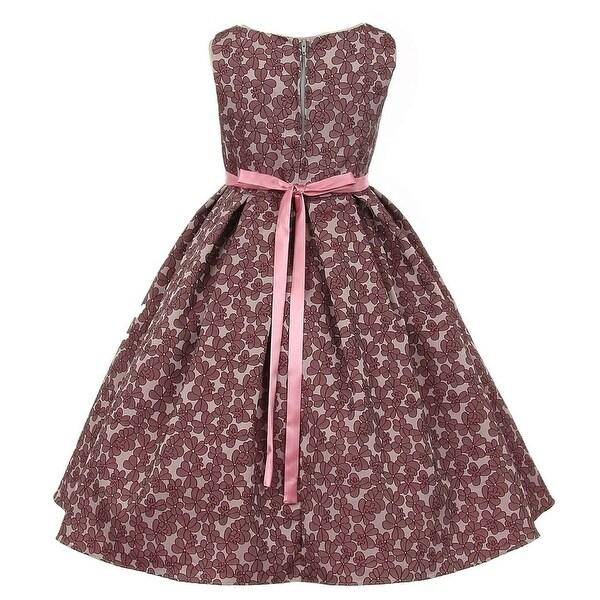 Shop Kids Dream Little Girls Opera Mauve Rose Floral Jacquard Christmas  Dress 2-6 - Free Shipping Today - Overstock.com - 18165620 b9b669c904ce