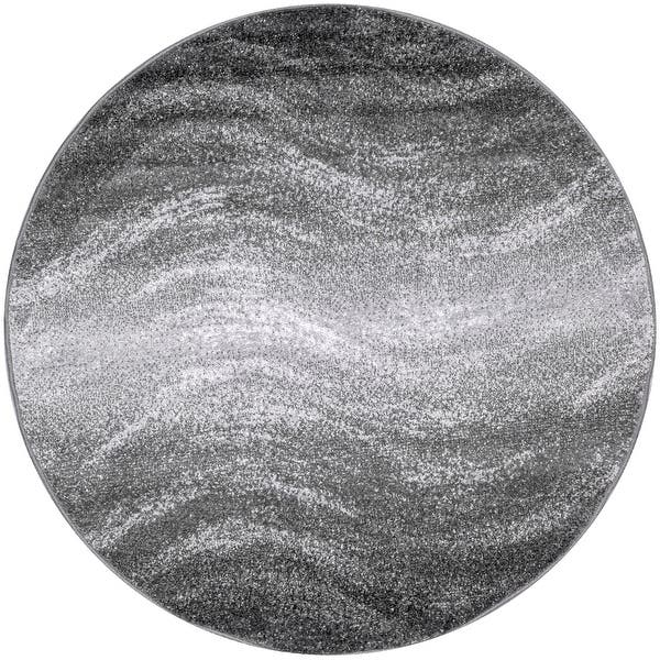 Strick Bolton Corelli Grey Ombre Wave Area Rug 5 Round On Sale Overstock 26457423