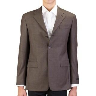 Prada Men's Virgin Wool Three-Button Sportscoat Jacket Brown - 40