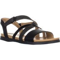 Naturalizer Kandy Flat Strappy Sandals - Black - 5