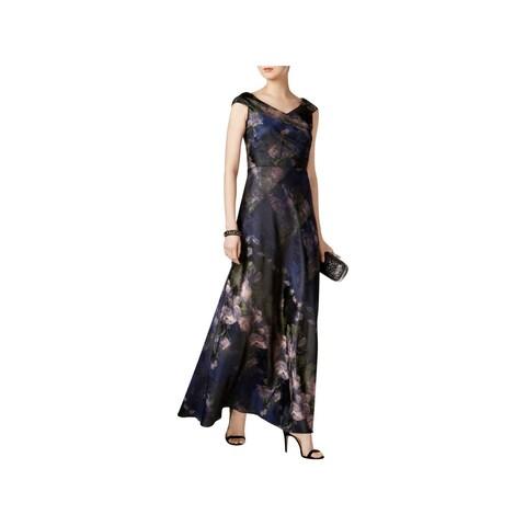 R&M Richards Womens Plus Evening Dress Lace Sleeveless