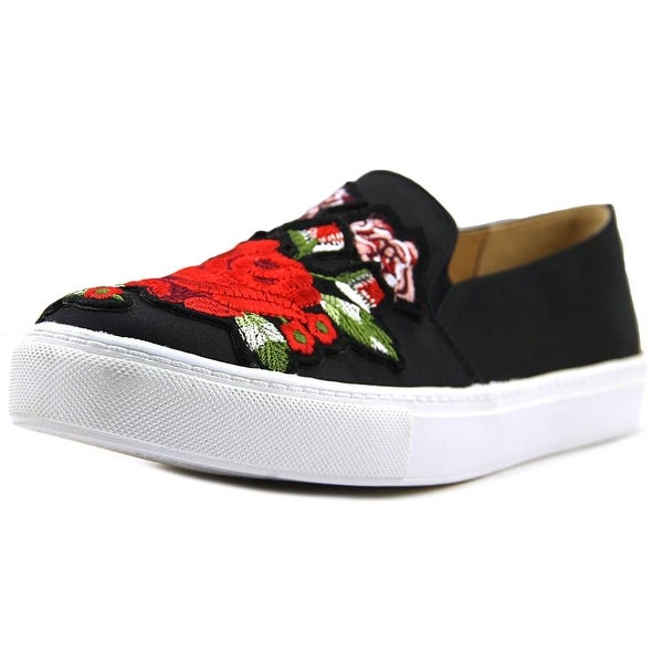 Dirty Laundry Jubilant Women Round Toe Canvas Black Loafer
