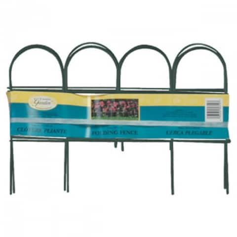 "Panacea 89318 Arch Folding Fence, Green, 10"" x 10'"
