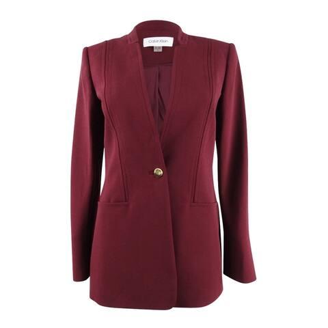 Calvin Klein Women's One-Button Blazer - Rosewood