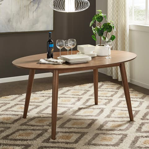 Todd Mid-Century Walnut Oval Dining Table by iNSPIRE Q Modern