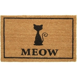 Geo Crafts G355 CAT MEOW 18 x 30 in. PVC Backed Coco Mat