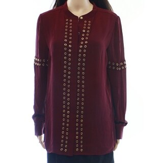 Michael Kors NEW Merlot Red Women's Size 6 Grommet Pleated Blouse|https://ak1.ostkcdn.com/images/products/is/images/direct/ad9052eec7714e64863b8b40be5b7de85d2ec51a/Michael-Kors-NEW-Merlot-Red-Women%27s-Size-6-Grommet-Pleated-Blouse.jpg?_ostk_perf_=percv&impolicy=medium