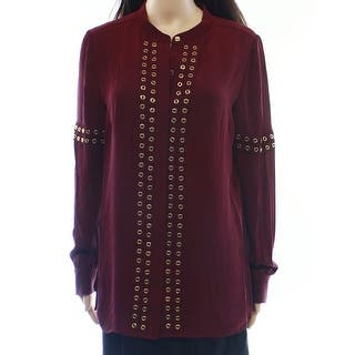 Michael Kors NEW Merlot Red Women's Size 6 Grommet Pleated Blouse|https://ak1.ostkcdn.com/images/products/is/images/direct/ad9052eec7714e64863b8b40be5b7de85d2ec51a/Michael-Kors-NEW-Merlot-Red-Women%27s-Size-6-Grommet-Pleated-Blouse.jpg?impolicy=medium