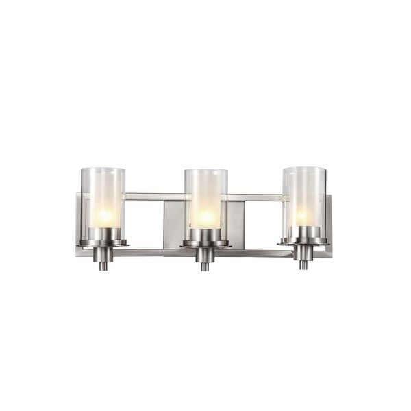 Trans Globe Lighting 20043 3-Light Bathroom Fixture from the Modern Meets Traditional Collection - Brushed nickel