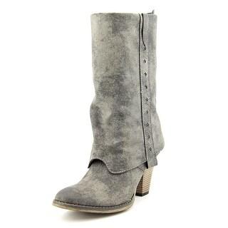 Mia Jeri Round Toe Synthetic Mid Calf Boot