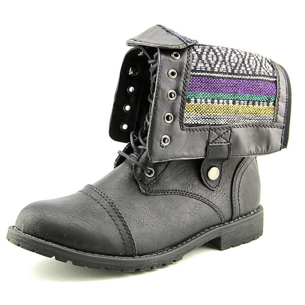 Vybe Bunker Round Toe Synthetic Mid Calf Boot