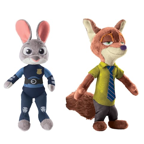 "Disney Zootopia 13.5"" Talking Plush Set: Nick Wilde and Officer Judy Hopps - multi"