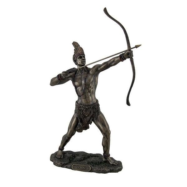 Shop Bronzed Finish Ochosi Divine Hunter Orisha Statue