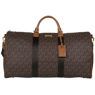 Michael Kors XL Signature Travel Duffle Tote Bag in Brown