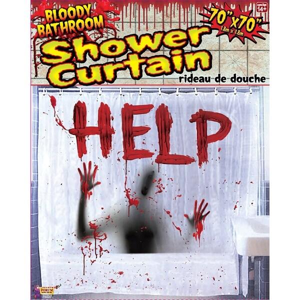 Bloody Bathroom Shower Curtain Halloween Decor