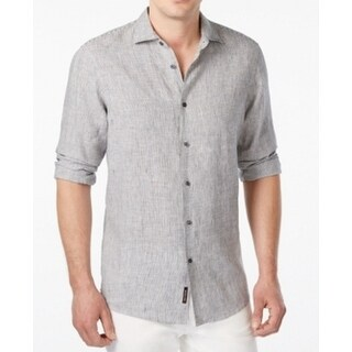 Michael Kors NEW Gray Mens Size Medium M Button Down Tailored Shirt