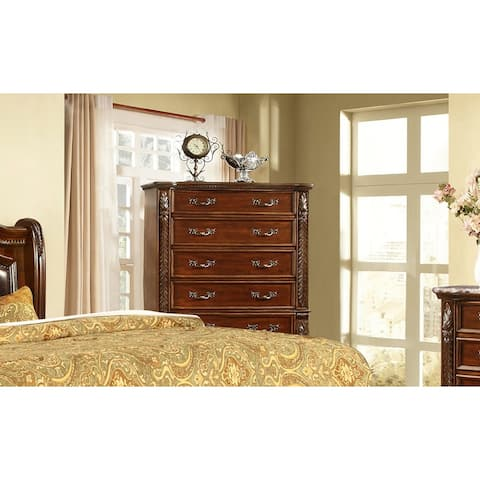 Best Master Furniture Traditional Cherry 5-Drawer Chest