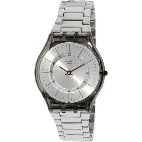 Swatch Metalmix Silver Stainless-Steel Swiss Quartz Fashion Watch