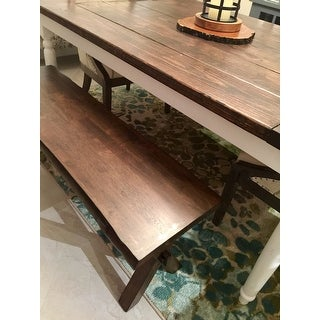 Simple Living Mandeville Live Edge Solid Wood Bench