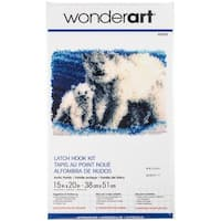 "Wonderart Latch Hook Kit 15""X20""-Arctic Family"