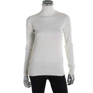 Zara Knit Womens Ribbed Trim Raglan Sleeves Turtleneck Sweater