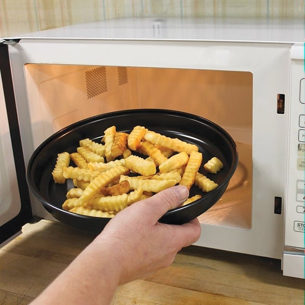 Microwave Oven Crisper Food Reheater Pan