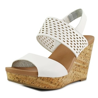 Dr. Scholl's Moveit   Open Toe Leather  Wedge Heel