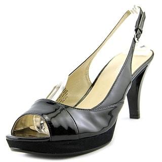 Nine West Kalner Women  Peep-Toe Patent Leather Black Slingback Heel