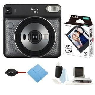 Fujifilm Instax Square SQ6 (Graphite Gray) with Film and Accessories Bundle