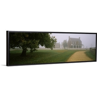 """House in a park, Appomattox Court House National Historical Park, Virginia"" Black Float Frame Canvas Art"