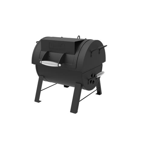"""Dyna-Glo DGSS287CB-D 18"""" Wide Free Standing Charcoal Grill with Side Firebox from the Signature Series - - Black"""