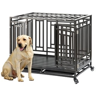 Link to Pets Furniture Heavy Duty 45'' Dog Crate Kennel Similar Items in Dog Furniture