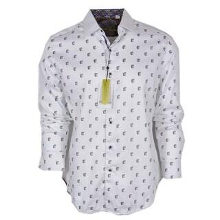 Robert Graham DAVIDE Greek Head Poplin Cotton Classic Fit Sports Shirt