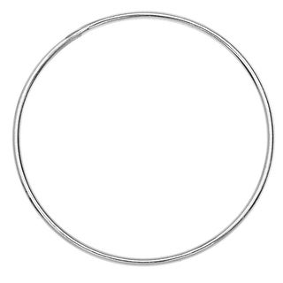 Round Link Component, Closed 18 Gauge Wire 30mm Diameter, 1 Piece, Sterling Silver