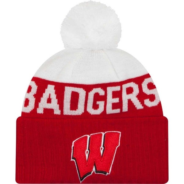 Shop New Era Wisconsin Badgers Beanie Sport Knit Cap Hat NCAA 80330250 -  Free Shipping On Orders Over  45 - Overstock - 18058493 55a2e3f60c2