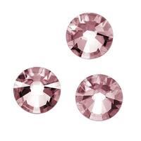 Swarovski Crystal, 2038 Xirius Flatback Rhinestones Hotfix ss34, 12 Pieces, Crystal Antique Pink F